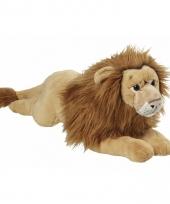 Pluche liggende leeuw knuffel 70cm trend
