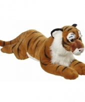 Pluche liggende tijger knuffel 70cm trend