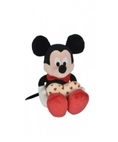 Pluche mickey mouse knuffel met hart trend
