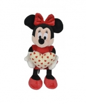 Pluche minnie mouse knuffel met hart trend