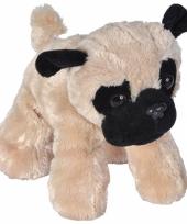 Pluche mopshond knuffeltje 18 cm trend