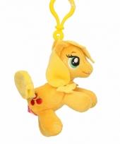 Pluche my little pony knuffel applejack geel 8 cm trend