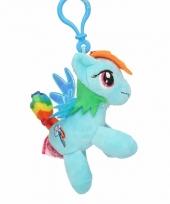 Pluche my little pony knuffel rainbow dash blauw 8 cm trend