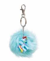 Pluche my little pony sleutelhanger rainbow dash 7 cm trend