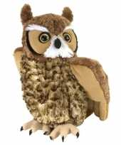 Pluche oehoe uil knuffel 30 cm trend