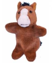 Pluche paard handpoppetje 28 cm trend