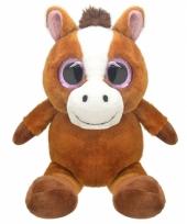 Pluche paard knuffel 16 cm trend