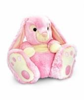 Pluche roze konijn 50 cm trend