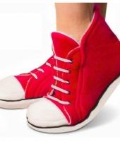 Pluche sneaker slof rood voor heren trend