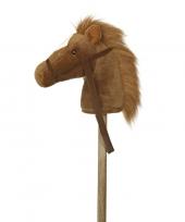Pluche stokpaardje bruine pony met geluid 94 cm trend