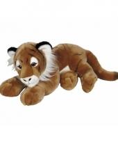 Pluche tijger knuffel liggend 50 cm trend
