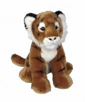 Pluche tijger knuffel zittend 30 cm trend