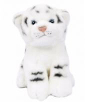 Pluche tijger welpje knuffel wit 20 cm trend