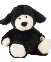 Pluche warmte knuffel schaap zwart trend