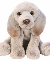 Pluche weimaraner grijs knuffel hond 13 cm trend