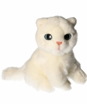 Pluche witte katten knuffel 20 cm trend