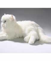 Pluche witte katten knuffel 35 cm trend