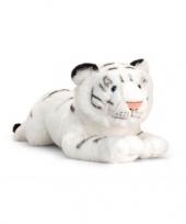 Pluche witte liggende tijger 46cm trend