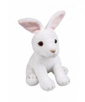 Pluche zittende witte konijnen knuffeldier 19cm trend