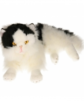 Pluche zwart witte katten knuffel 35 cm trend