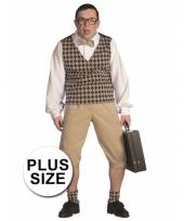 Plus size nerd verkleedkleding heren trend