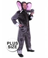 Plus size olifant verkleedkleding trend