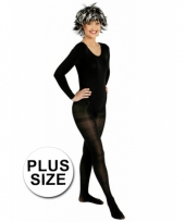 Plus size panty zwart trend