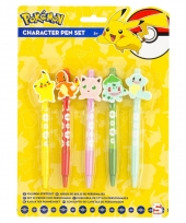 Pokemon pennen setje 5 stuks trend