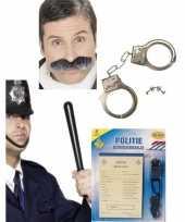 Politie accessoires verkleedset voor volwassenen trend