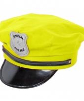 Politie petten neon geel trend