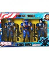 Politie speel figuren 3 stuks trend