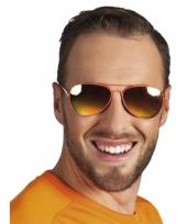 Politie zonnebril oranje spiegelglazen trend