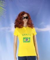 Poloshirt met vlag brazilie print trend
