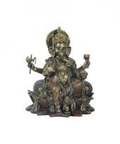 Polystone ganesha boeddha beeldje 20 cm trend