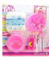 Poppen baby accessoires set trend