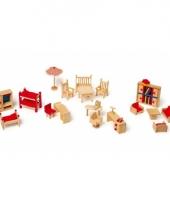 Poppen meubel set met tuintje 22 delig trend