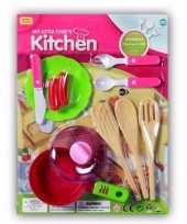 Poppen speelgoed keuken gerei 10 delig trend