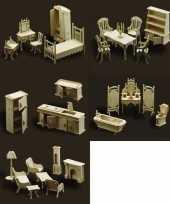 Poppenhuis meubels complete inrichting set trend