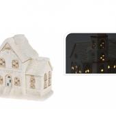 Porseleinen huisje met led licht type 2 trend