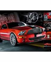 Poster rode ford mustang 61 x 91 5 cm trend