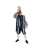 Prins carnaval outfit blauw wit trend