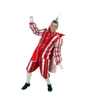 Prins carnaval outfit rood wit trend