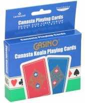 Professionele bridge speelkaarten 2 pakken trend