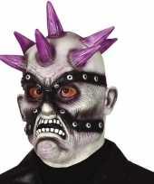 Punk zombie horror masker van latex trend