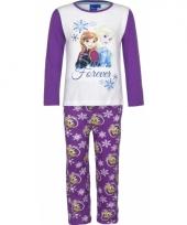 Pyjama frozen elsa en anna paars trend