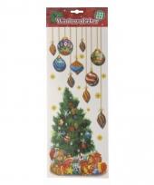 Raamsticker kerstoom met kerstballen trend
