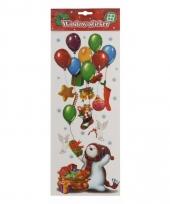 Raamsticker sneeuwpop met ballonnen trend