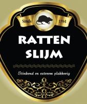 Rattenslijm fles etiketten trend
