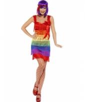 Regenboog franje jurkje trend