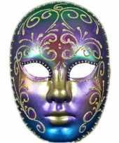 Regenboog masker handgemaakt trend